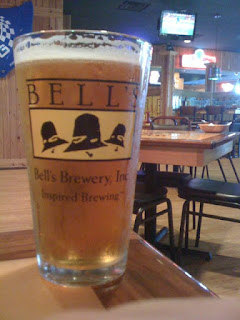 Bell's Two Hearted Ale in a glass at the brewery