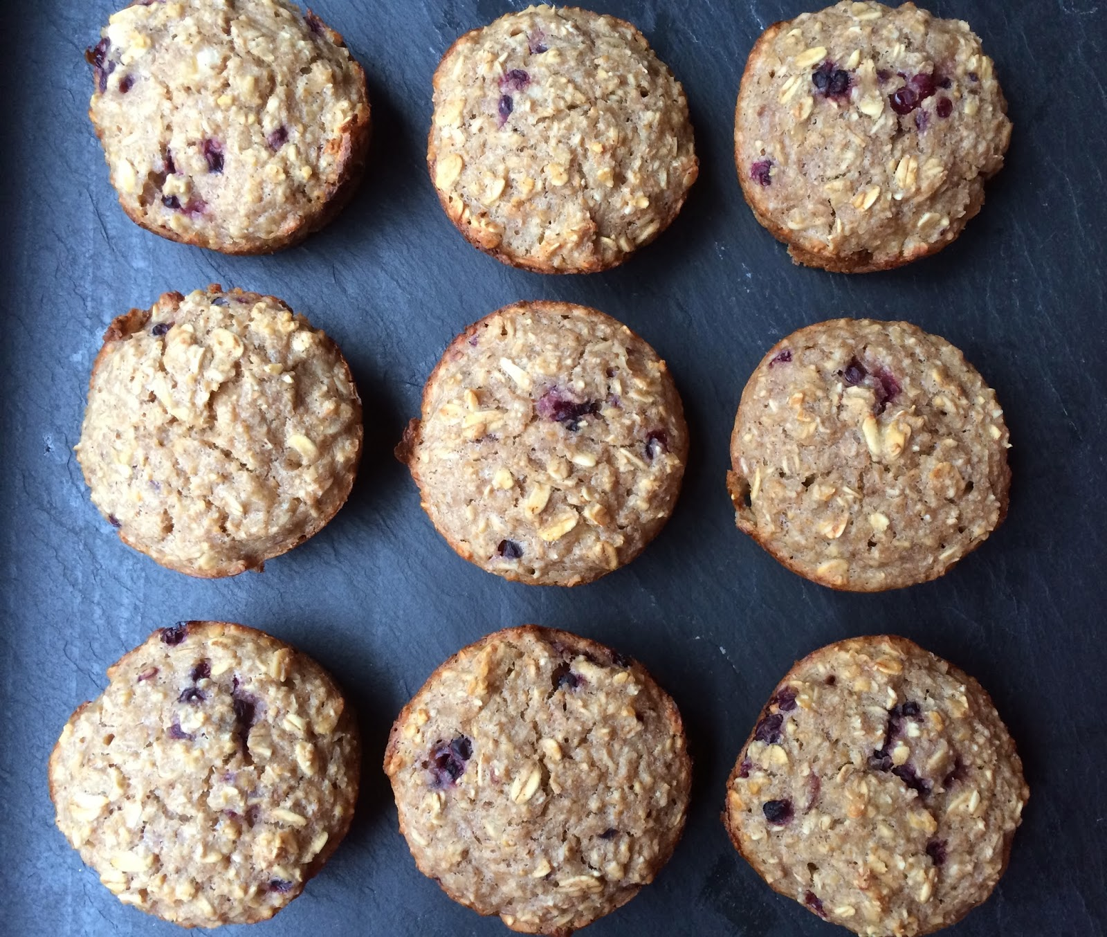 Clean Eating Banana Honey-Oat Muffins