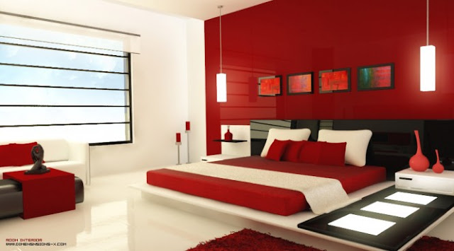 chambres a coucher rouges