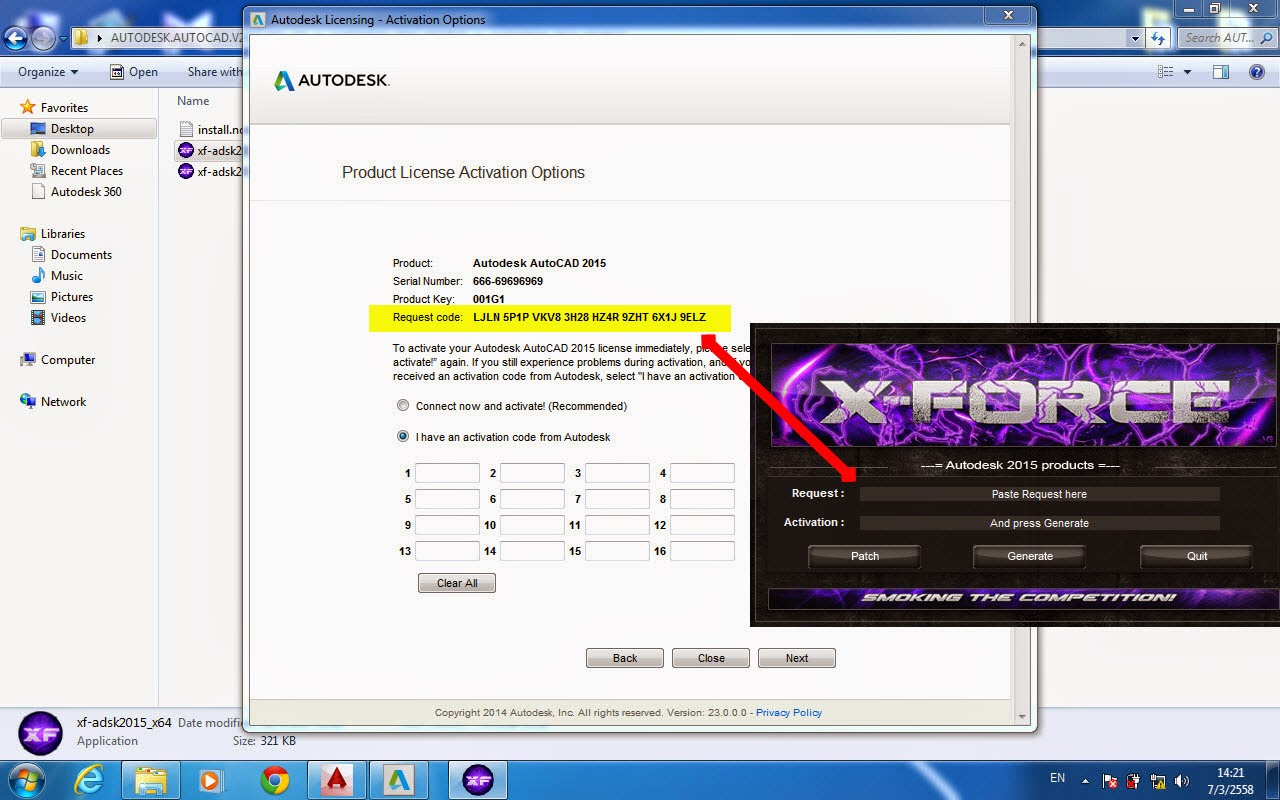 telecharger xforce keygen autodesk 2016 64 bit