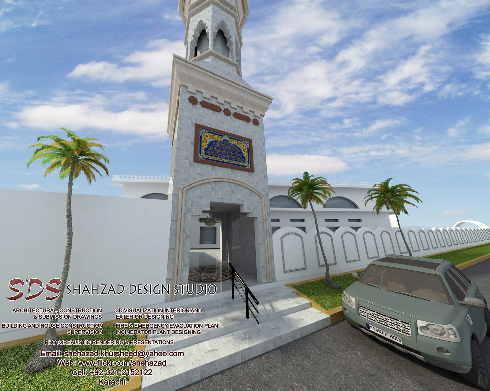 Design elevation building joy studio design gallery for Mosque exterior design