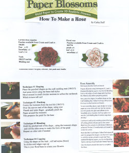 Rose Paper blossom tutorial