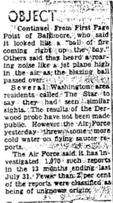 Mystery Object 'Visited' Nike Site, Army Told (Cont) - Washington Evening Star 12-7-1958