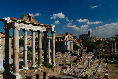 The Temple of Saturn and the Forum - Rome, Italy