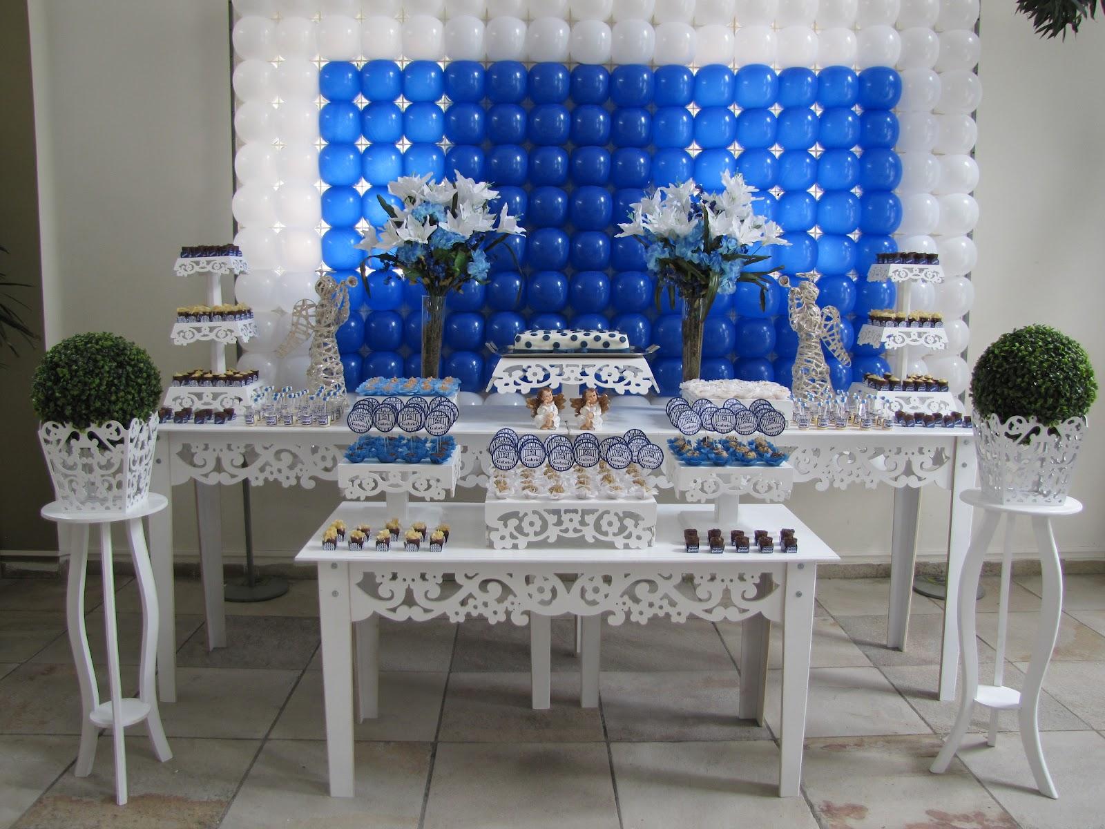 Batizado Azul Marinho E Branco Para Alessandro Car Interior Design #0C49BC 1600x1200 Banheiro Azul Marinho Com Branco