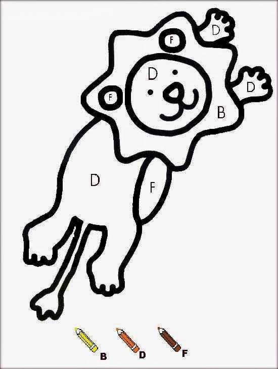 Lion coloriages magiques maternelle cute coloriage magique cp - Dessin code maternelle ...