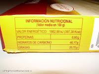 Valores nutricionales de la masa de hojaldre HACENDADO