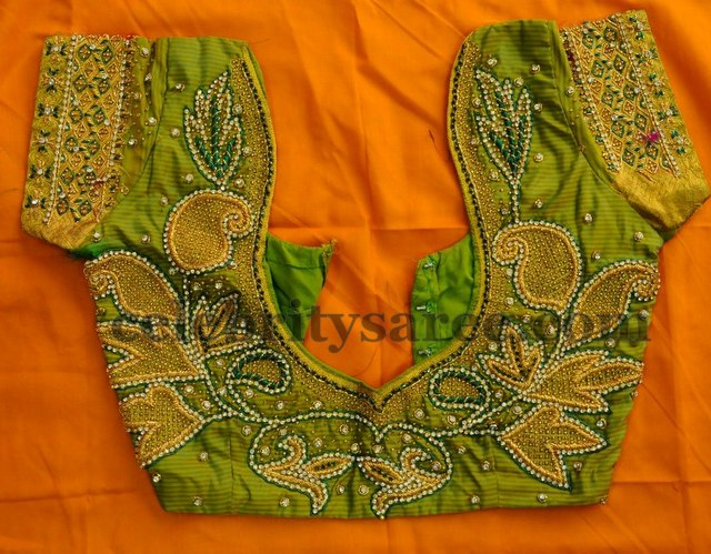 Latest Embroidered Blouse Designs - Saree Blouse Patterns