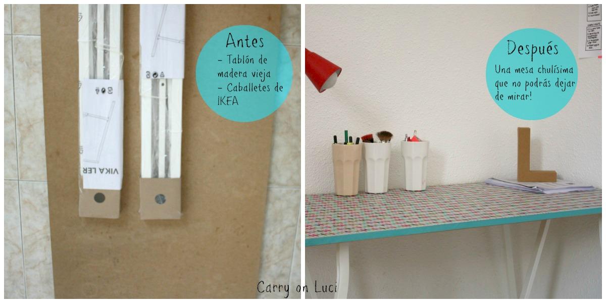 Carry on luci diy customizar mesa de escritorio for Escritorios baratos ikea