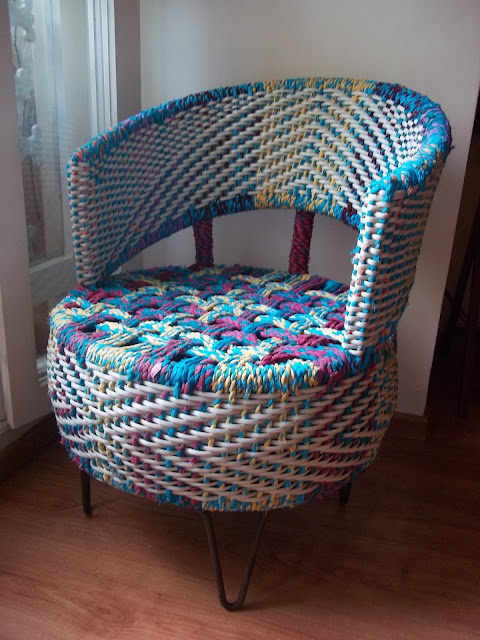 the retyrment  plan upcycled chair