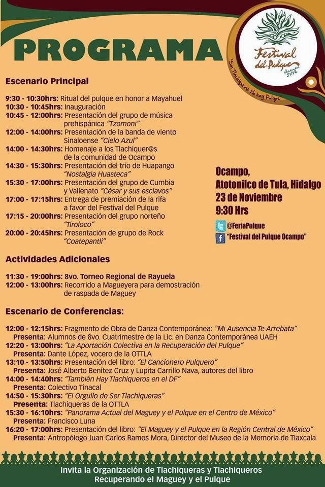 programa festival del pulque ocampo 2014