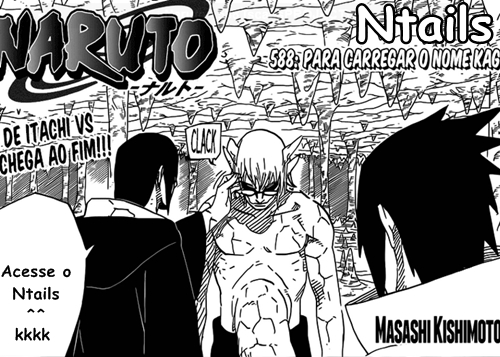 Naruto Mangá 588 - Carregar o nome Kage
