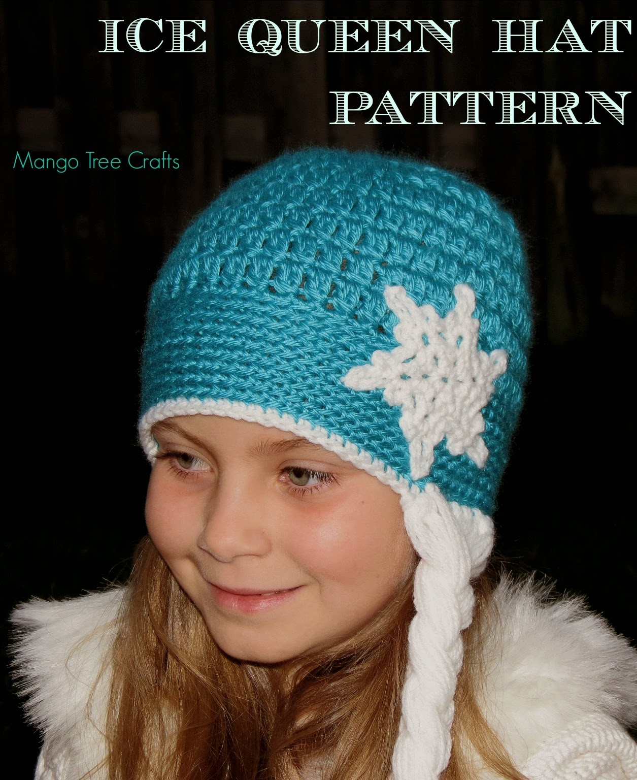 Crochet Elsa Hair Hat : Mango Tree Crafts: Ice Queen Crochet Hat Pattern