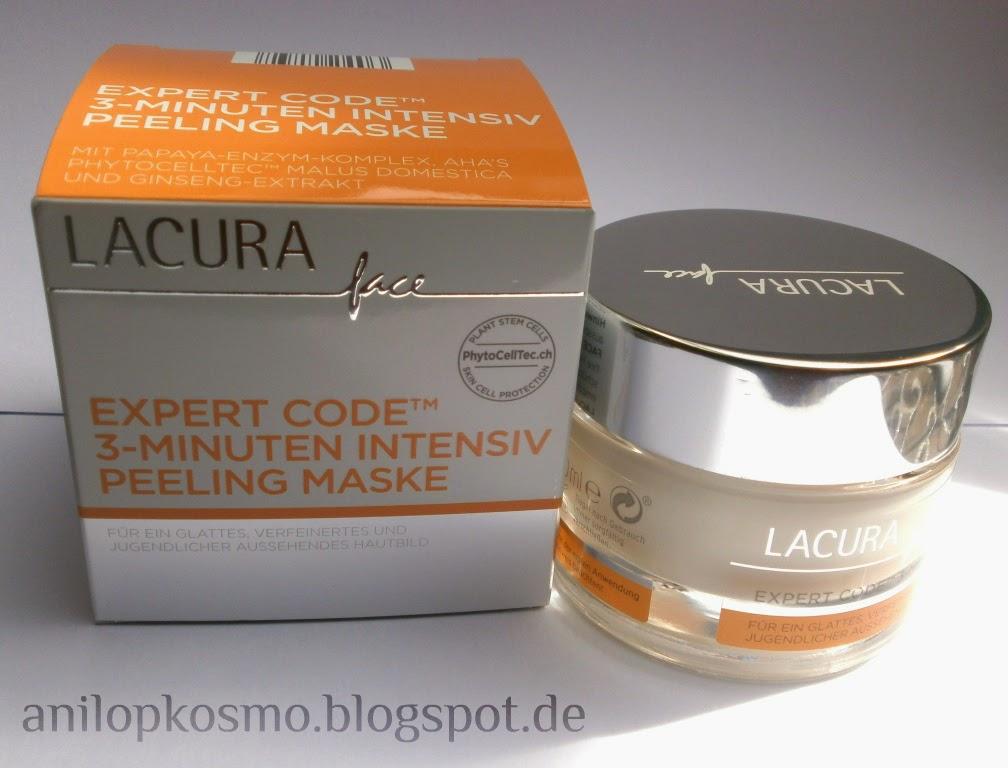 Lacura Face Expert Code™ 3-Minuten Intensiv Peeling Maske маска пилинг Лакура, отзывы