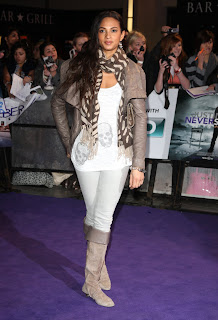 Alesha Dixon at the Never Say Never London Premiere