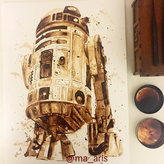 07-R2D2-Star-Wars-Maria-A-Aristidou-Pop-Culture-Painted-with-Coffee-www-designstack-co