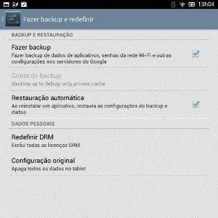 Backup e recuperar as configurações de fábrica do Android - 316x316