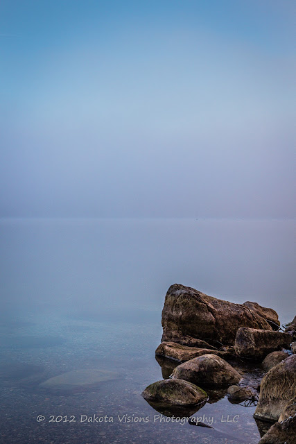 Big Stone Lake SD, Lake, Fog, Minimalist Photography, South Dakota Photography