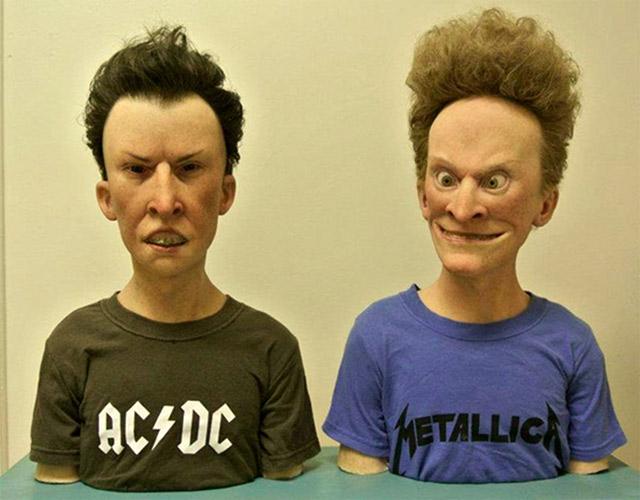 Bustos aterradores e hiperrealistas de Beavis & Butt-head