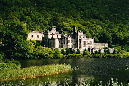 Kylemore Abbey - a boarding school for girls.