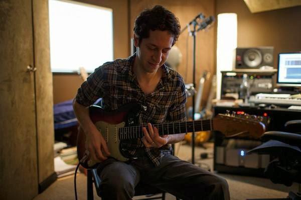 Jeremy Zuckerman in the studio working on Legend of Korra soundtrack