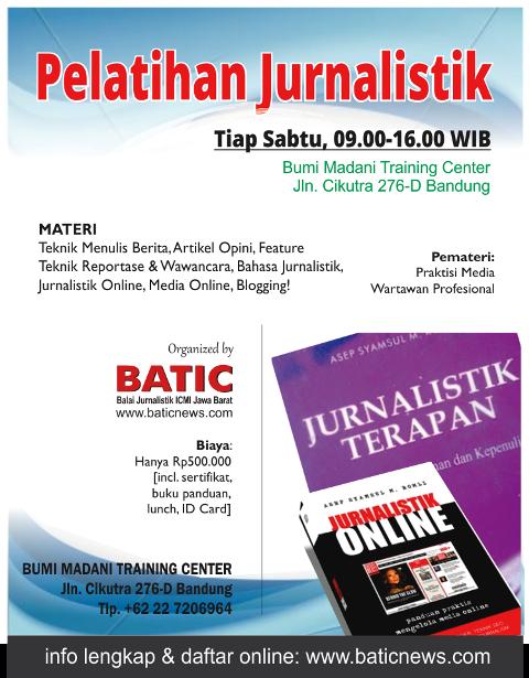 pelatihan jurnalistik batic