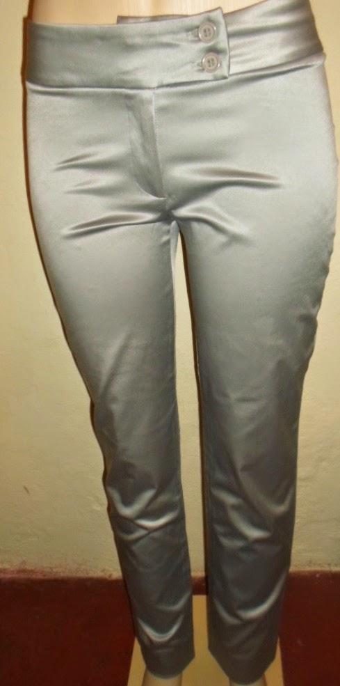 calça social de cetim grosso cinza