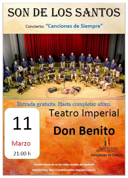 Concierto en el TEATRO IMPOERIAL de Don Benito : 11/03/2017