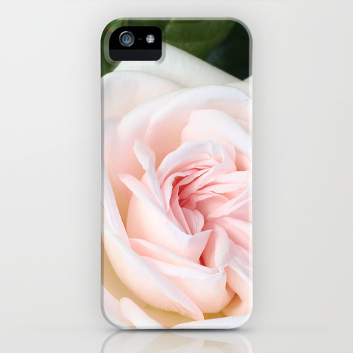 home decor - blush white rose i phone case / catherine masi