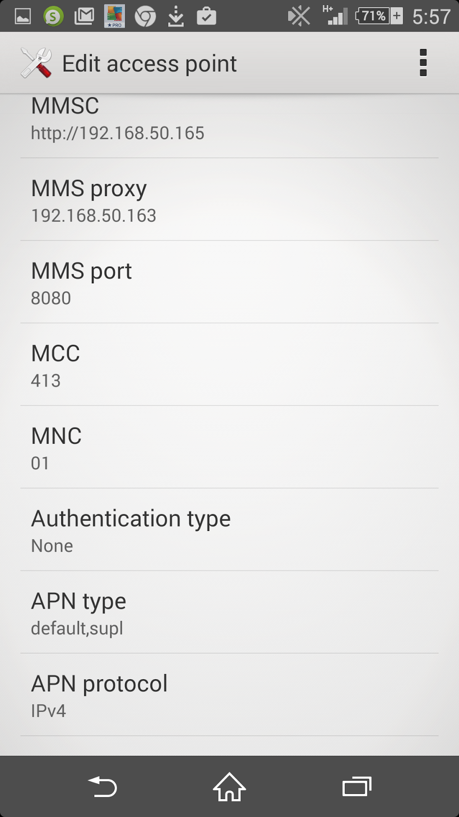 mobitel Sri Lanka Settings for Xperia