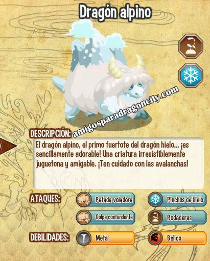 imagen de las caracteristicas del dragon alpino