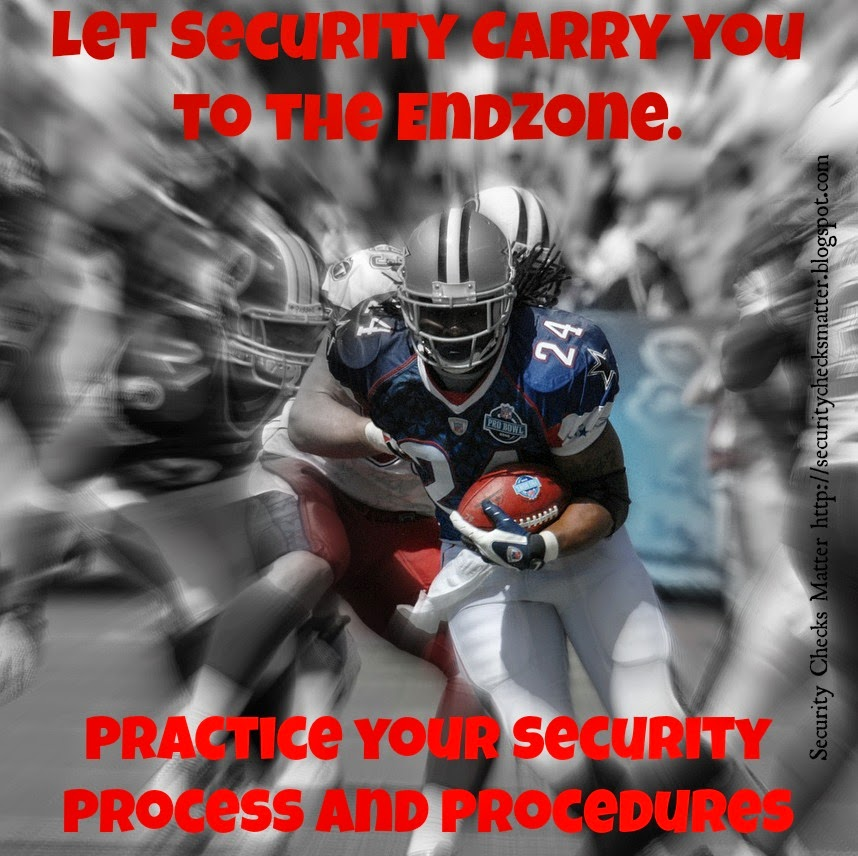 security checks matter football security poster