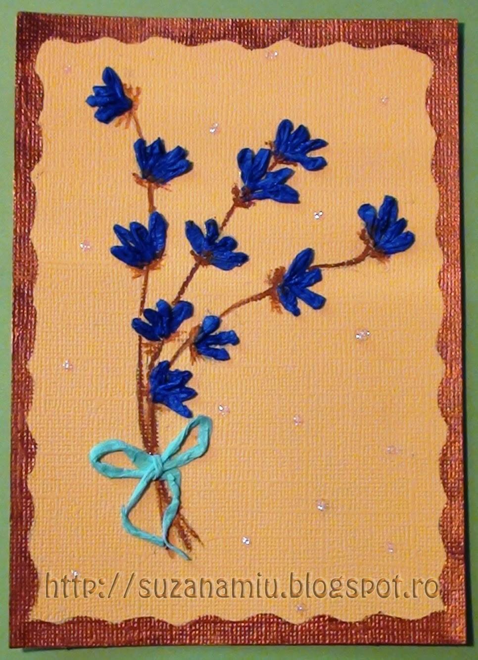 flori de lavanda din hartie creponata
