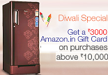 Amazon: Buy Upto 20% OFF + 10% OFF + Free Rs. 3000 Amazon Gift Card on Large Appliances