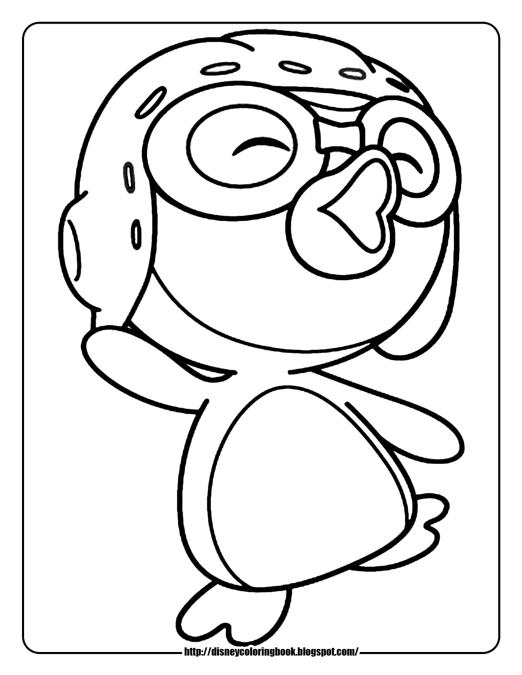 Pororo The Little Penguin Free Disney Coloring Sheets Pororo Coloring Pages