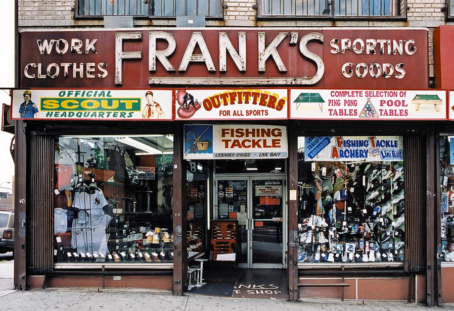 James and karla murray photography frank 39 s sporting goods for Fishing store nyc