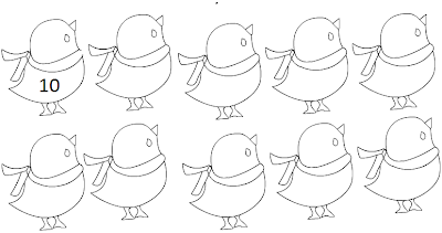 Line Drawing :: Clip Art :: Birds :: Count the Birds :: Counting