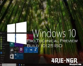 Windows 10 Pro Technical Preview Build 10125 ISO Full Terbaru