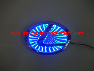 Front Logo + Lampu 3D Lexus Biru