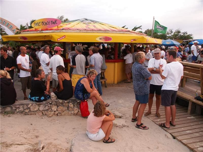 Sunset Bar in St. Marteen
