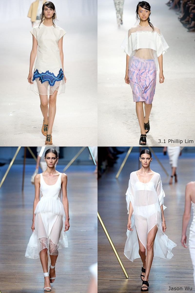 New York Fashion Week, NYFW, SS 2014, 3.1 Phillip Lim, Jason Wu, white, sheer