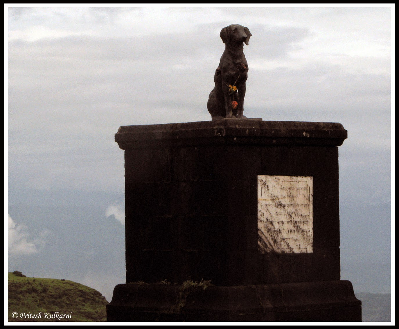 Statue of Waghya dog