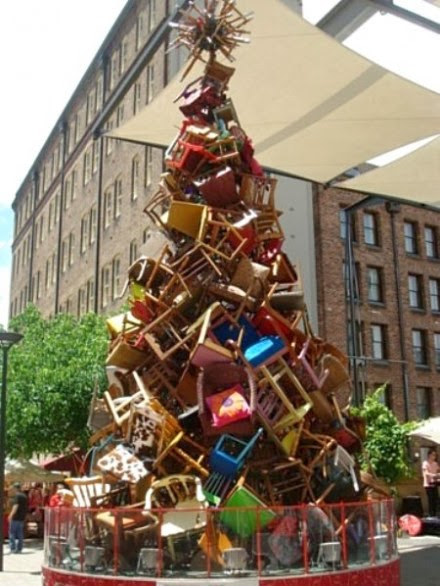 The Art Of Up-Cycling: Diy Christmas Trees-Aternative Christmas ...
