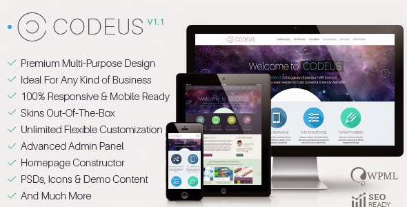 Codeus – Multi-Purpose Responsive WordPress Theme