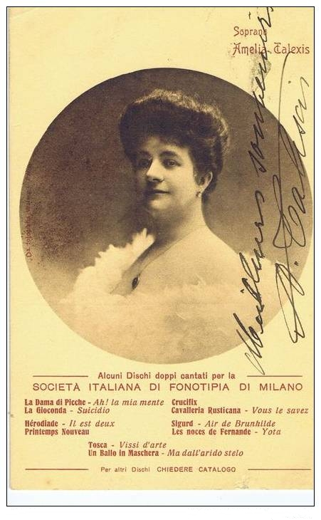 FRENCH SOPRANO AMELIA TALEXIS (1875-1911) CD
