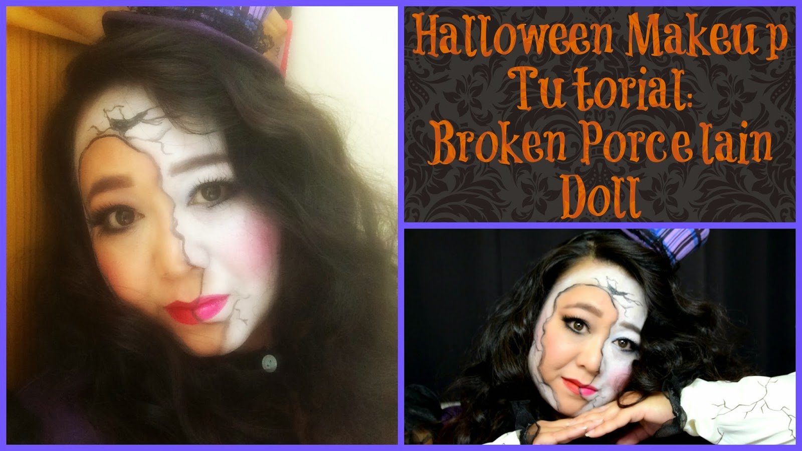 makeupmaiworld: broken porcelain doll - halloween makeup tutorial