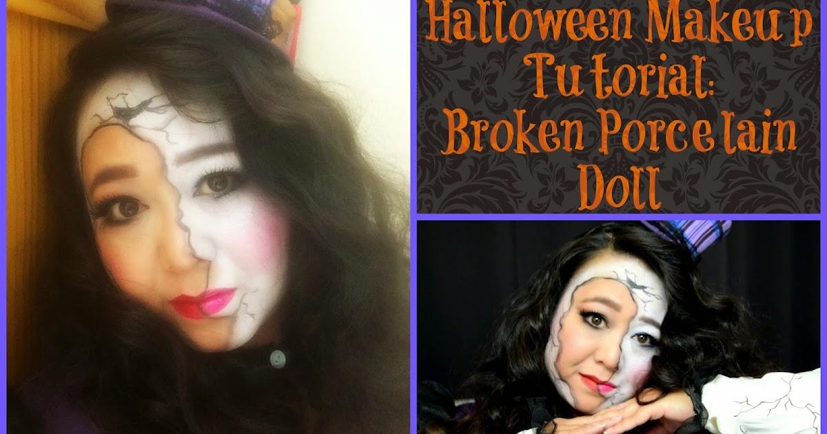 MakeupMaiWorld: Broken Porcelain Doll - Halloween Makeup Tutorial