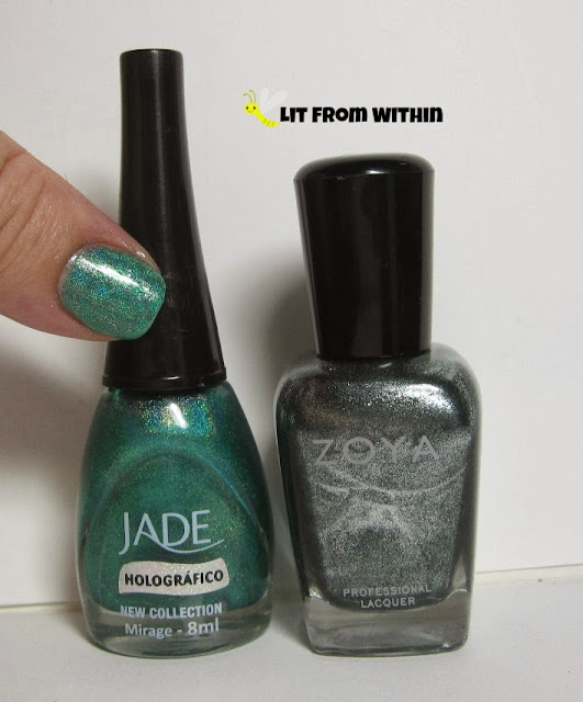 Bottle shot:  Jade Mirage and Zoya Cassedy