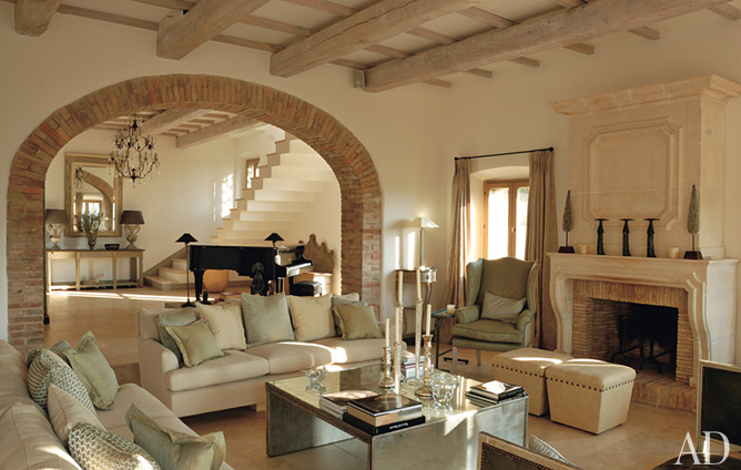 Kayla lebaron interiors latest architectural digest for Tuscan style homes interior