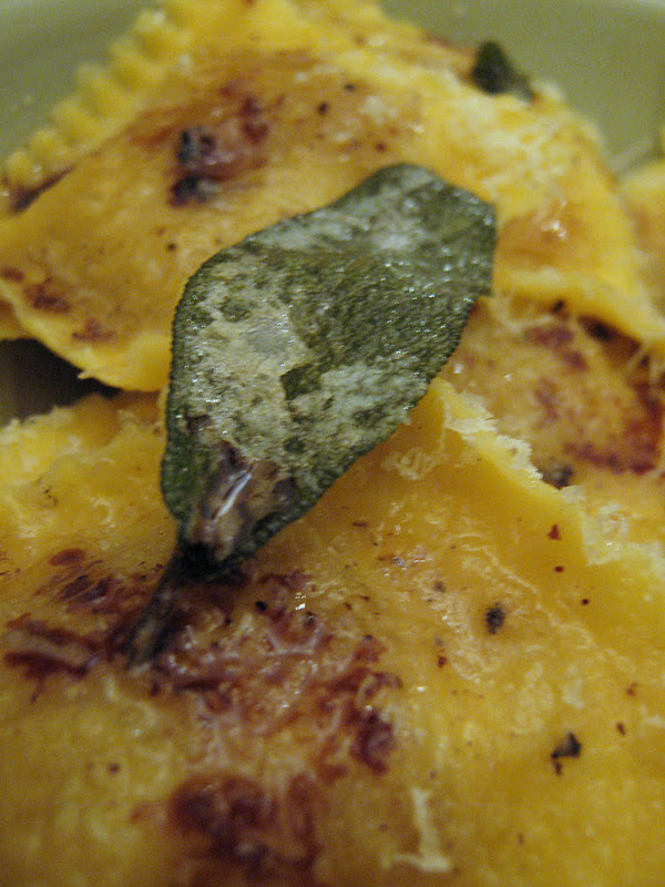 Butternut Squash Ravioli with Fried Sage Leaves and Sun-Dried Tomatoes Recipe recommendations